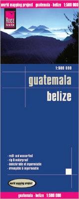 landkaart, wegenkaart Guatemala, Belize 1:500.000 9783831772889  Reise Know-How WMP Polyart  Landkaarten en wegenkaarten Yucatan, Guatemala, Belize