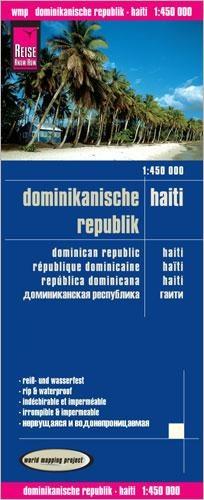 landkaart, wegenkaart Dominicaanse Republiek & Haiti 1:450.000 9783831772902  Reise Know-How WMP Polyart  Landkaarten en wegenkaarten Overig Caribisch gebied