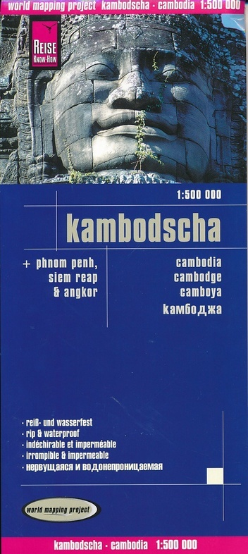 landkaart, wegenkaart Cambodia 1:500.000 9783831773091  Reise Know-How WMP Polyart  Landkaarten en wegenkaarten Cambodja