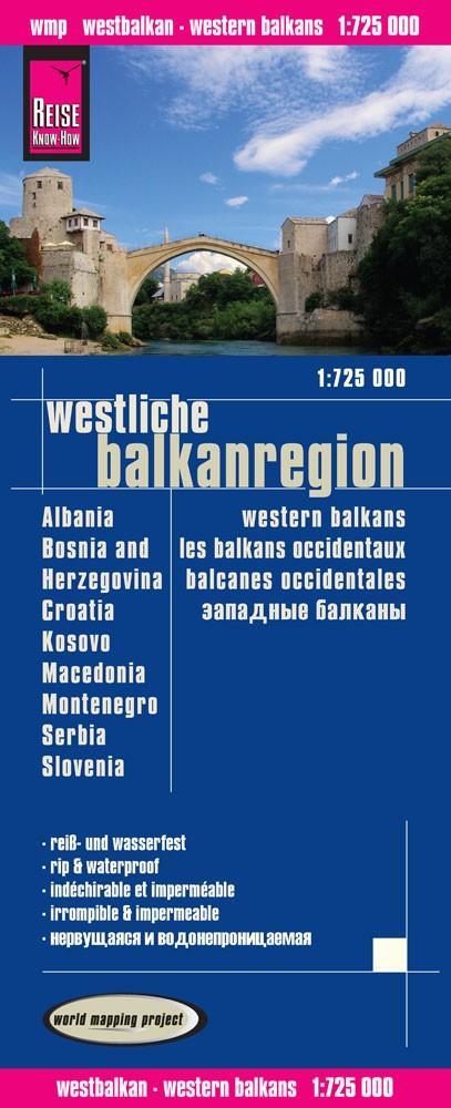 landkaart, wegenkaart Westelijke Balkan 1:725.000 9783831773107  Reise Know-How WMP Polyart  Landkaarten en wegenkaarten Balkan