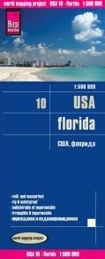 landkaart, wegenkaart USA-10  Florida 1:500.000 9783831773237  Reise Know-How WMP Polyart  Landkaarten en wegenkaarten Florida