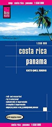 landkaart, wegenkaart Costa Rica, Panama 1:550.000 9783831773244  Reise Know-How WMP Polyart  Landkaarten en wegenkaarten Costa Rica, Overig Midden-Amerika