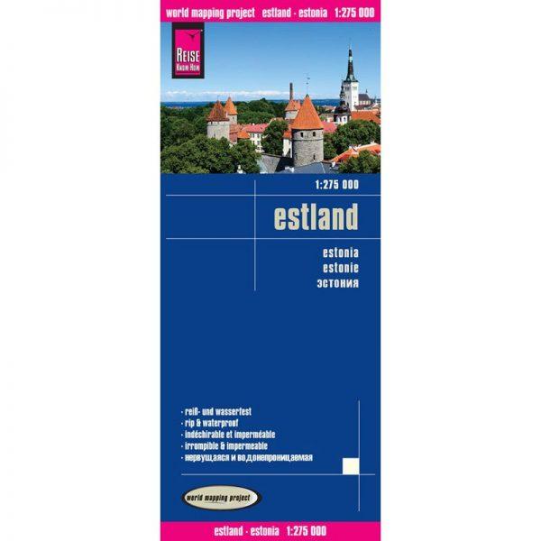 landkaart, wegenkaart Estland  1:275.000 9783831773282  Reise Know-How WMP Polyart  Landkaarten en wegenkaarten Estland
