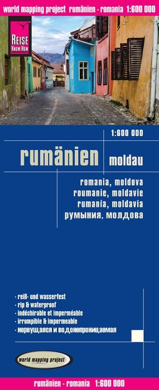 landkaart, wegenkaart Roemenië, Moldavië 1:600.000 9783831773312  Reise Know-How WMP Polyart  Landkaarten en wegenkaarten Roemenië, Moldavië