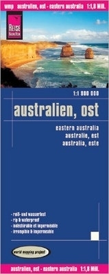 landkaart, wegenkaart Australia East 1:1.800.000 9783831773381  Reise Know-How WMP Polyart  Landkaarten en wegenkaarten Australië