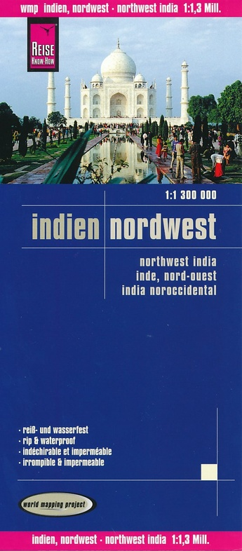 landkaart, wegenkaart India Noordwest 1:1.300.000 9783831773404  Reise Know-How WMP Polyart  Landkaarten en wegenkaarten India