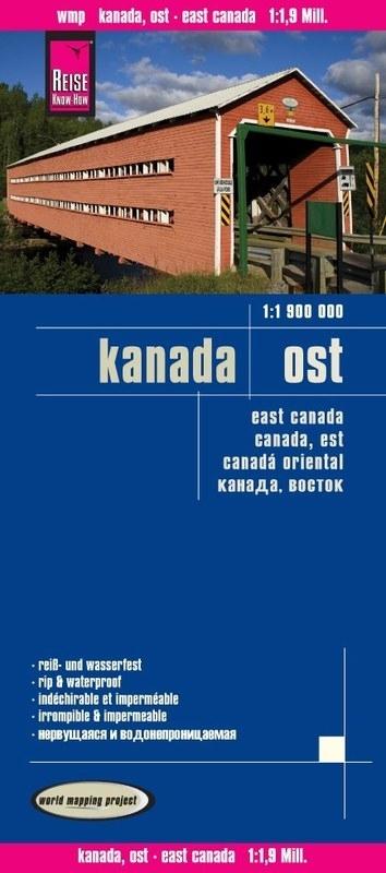 landkaart, wegenkaart Oost-Canada 1:1.900.000 9783831773411  Reise Know-How WMP Polyart  Landkaarten en wegenkaarten Canada ten oosten van de Rockies