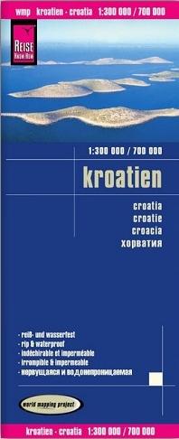 landkaart, wegenkaart Kroatië 1:325.000 9783831773435  Reise Know-How WMP Polyart  Landkaarten en wegenkaarten Kroatië