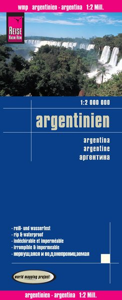 landkaart, wegenkaart Argentinië 1:2.000.000 9783831773503  Reise Know-How WMP Polyart  Landkaarten en wegenkaarten Argentinië