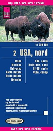landkaart, wegenkaart USA-02  North 1:1.200.000 9783831773534  Reise Know-How WMP Polyart  Landkaarten en wegenkaarten Washington, Oregon, Idaho, Wyoming, Montana