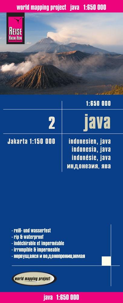 landkaart, wegenkaart Java 1:650.000 9783831773565  Reise Know-How WMP Polyart  Landkaarten en wegenkaarten Indonesië