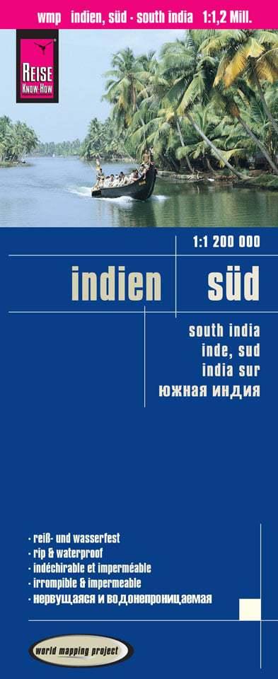 landkaart, wegenkaart Zuid-India 1:1.200.000 9783831773596  Reise Know-How WMP Polyart  Landkaarten en wegenkaarten India