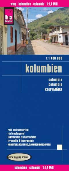 landkaart, wegenkaart Colombia 1:1.400.000 9783831773701  Reise Know-How WMP Polyart  Landkaarten en wegenkaarten Colombia