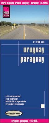 landkaart, wegenkaart Uruguay,Paraguay 1:1.200.000 9783831773749  Reise Know-How WMP Polyart  Landkaarten en wegenkaarten Paraguay, Uruguay