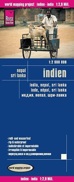 landkaart, wegenkaart India 1:2.900.000 9783831773763  Reise Know-How WMP Polyart  Landkaarten en wegenkaarten India