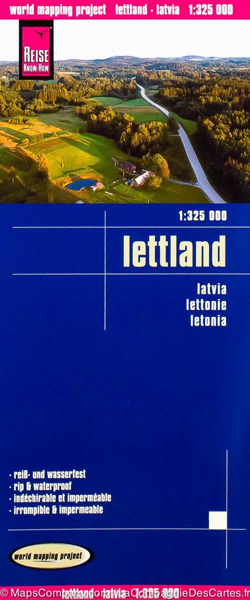 landkaart, wegenkaart Lettland (Letland) 1:325.000 9783831773787  Reise Know-How WMP Polyart  Landkaarten en wegenkaarten Letland