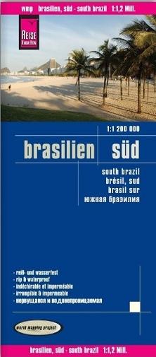 landkaart, wegenkaart Zuid-Brazilië 1:1.200.000 9783831773855  Reise Know-How WMP Polyart  Landkaarten en wegenkaarten Brazilië