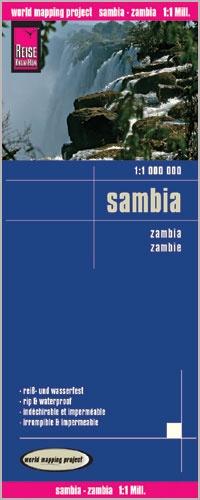 landkaart, wegenkaart Zambia 1:1.000.000 9783831773909  Reise Know-How WMP Polyart  Landkaarten en wegenkaarten Angola, Zimbabwe, Zambia, Mozambique, Malawi