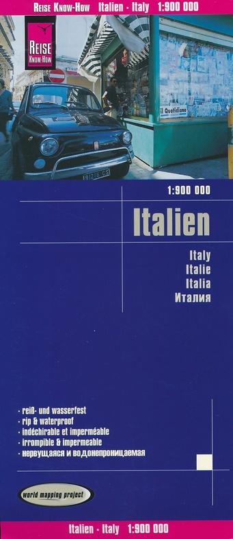 landkaart, wegenkaart Italië 1:800.000 9783831773923  Reise Know-How WMP Polyart  Landkaarten en wegenkaarten Italië