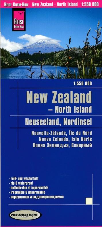 landkaart, wegenkaart Nieuw-Zeeland Noordeiland 1:550.000 9783831773961  Reise Know-How WMP Polyart  Landkaarten en wegenkaarten Nieuw Zeeland