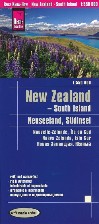 landkaart, wegenkaart Nieuw-Zeeland Zuideiland 1:550.000 9783831773978  Reise Know-How WMP Polyart  Landkaarten en wegenkaarten Nieuw Zeeland