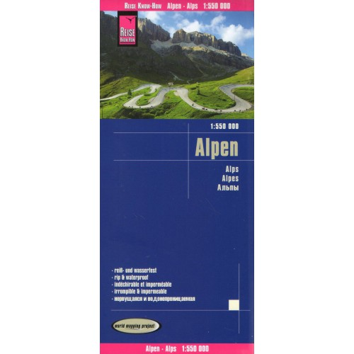 landkaart, wegenkaart Alpen 1:550.000 9783831774005  Reise Know-How WMP Polyart  Landkaarten en wegenkaarten Zwitserland en Oostenrijk (en Alpen als geheel)