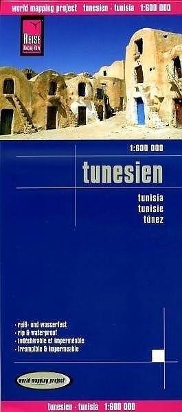 landkaart, wegenkaart Tunesien 1:600.000 9783831774159  Reise Know-How WMP Polyart  Landkaarten en wegenkaarten Algerije, Tunesië, Libië