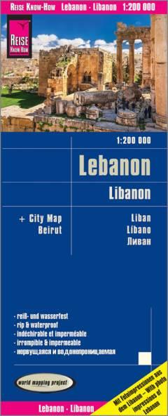 landkaart, wegenkaart Libanon 1:200.000 9783831774197  Reise Know-How WMP Polyart  Landkaarten en wegenkaarten Syrië, Libanon, Jordanië, Irak