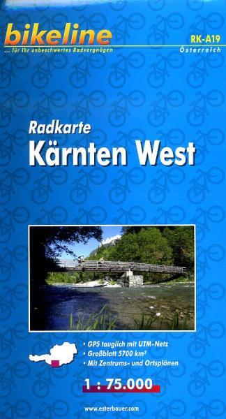 RKÖ-19 Kärnten West 1:100.000 9783850000154  Esterbauer Bikeline Radkarten  Fietskaarten Salzburg, Karinthië, Tauern, Stiermarken