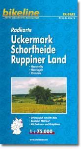 RK-BRA02  Uckermark 1:75.000 9783850002219  Esterbauer Bikeline Radkarten  Fietskaarten Brandenburg & Sachsen-Anhalt