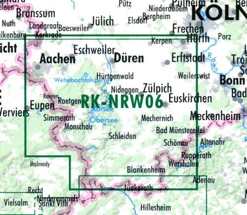 RK-NRW06  Eifel-Nord 1:75.000 9783850002875  Esterbauer Bikeline Radkarten  Fietskaarten Aken, Keulen en Bonn, Eifel