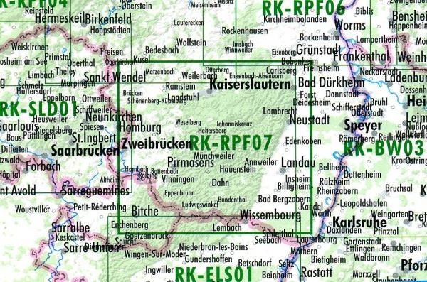 RK-RPF07  Pfalz 1:75.000 9783850002899  Esterbauer Bikeline Radkarten  Fietskaarten Pfalz, Deutsche Weinstrasse, Rheinhessen