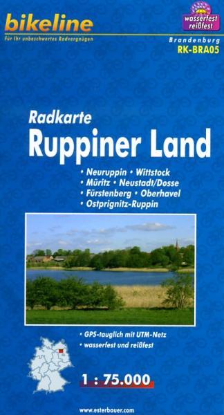 RK-BRA05  Ruppiner Land 1:75.000 9783850003049  Esterbauer Bikeline Radkarten  Fietskaarten Brandenburg & Sachsen-Anhalt