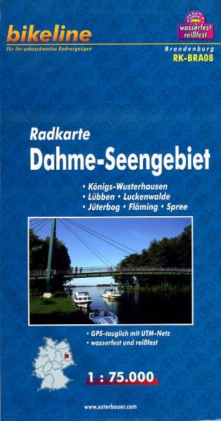 RK-BRA08  Dahme-Seengebiet 1:75.000 9783850003063  Esterbauer Bikeline Radkarten  Fietskaarten Brandenburg & Sachsen-Anhalt