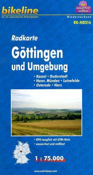 RK-NDS16 Göttingen und Umgebung 1:75.000 9783850003124  Esterbauer Bikeline Radkarten  Fietskaarten Lüneburger Heide, Hannover, Weserbergland