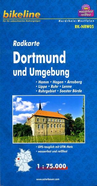 RK-NRW05  Dortmund u. Umgebung 1:75.000 9783850003131  Esterbauer Bikeline Radkarten  Fietskaarten Ruhrgebied
