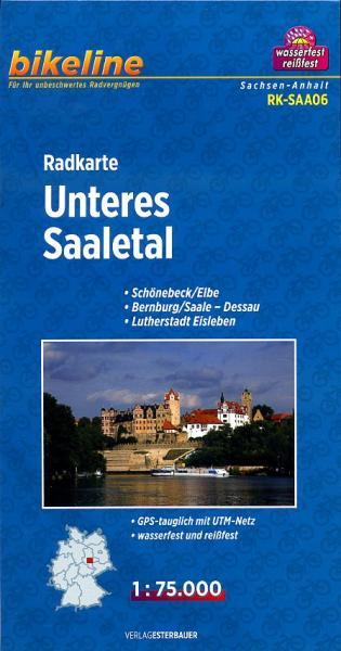 RK-SAA06  Unteres Saaletal 1:75.000 9783850003186  Esterbauer Bikeline Radkarten  Fietskaarten Brandenburg & Sachsen-Anhalt