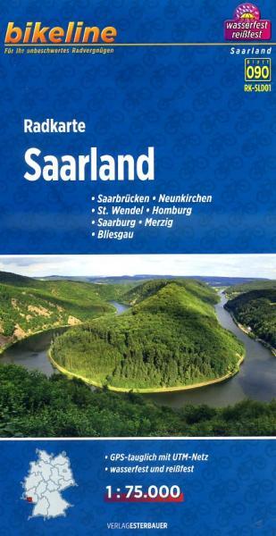 RK-SLD01  Saarland 1:75.000 9783850003223  Esterbauer Bikeline Radkarten  Fietskaarten Saarland, Hunsrück