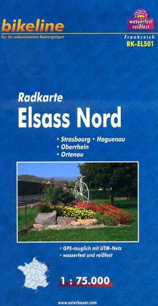 RK-ELS01  Elsass Nord 1:100.000 9783850003360  Esterbauer Bikeline Radkarten  Fietskaarten Vogezen
