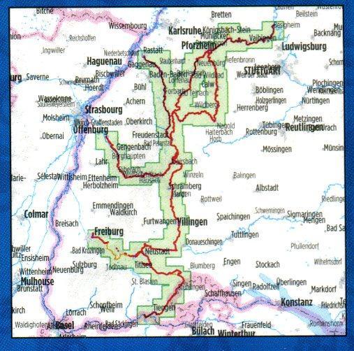 Bikeline Schwarzwald Flussradwege | fietsgids 9783850003384  Esterbauer Bikeline  Fietsgidsen Zwarte Woud