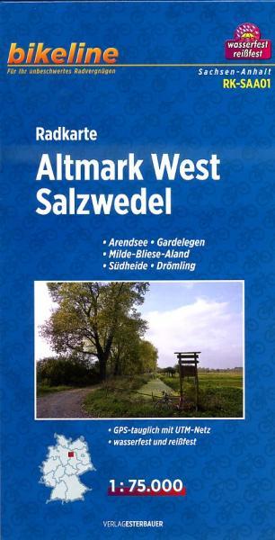 RK-SAA01  Altmark West  1:75.000 9783850003490  Esterbauer Bikeline Radkarten  Fietskaarten Brandenburg & Sachsen-Anhalt