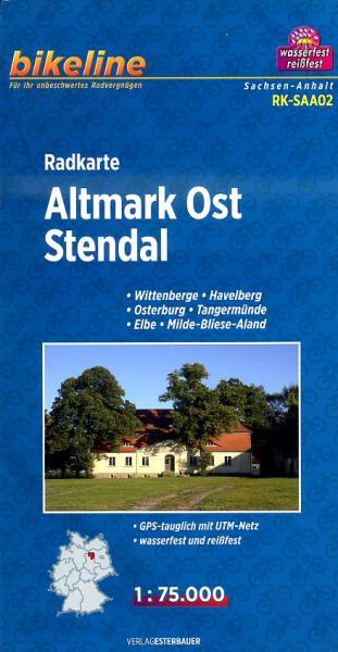 RK-SAA02  Altmark Ost 1:75.000 9783850003506  Esterbauer Bikeline Radkarten  Fietskaarten Brandenburg & Sachsen-Anhalt