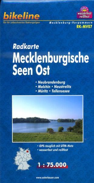 RK-MV07  Mecklenburgische Seen Ost  | fietskaart 1:75.000 9783850003520  Esterbauer Bikeline Radkarten  Fietskaarten Mecklenburg-Vorpommern