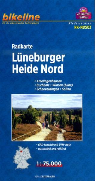 RK-NDS03  Lüneburger Heide Nord 1:75.000 9783850003605  Esterbauer Bikeline Radkarten  Fietskaarten Lüneburger Heide, Hannover, Weserbergland