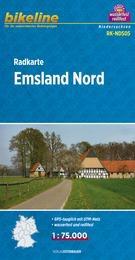 RK-NDS05  Emsland Nord  1:75.000 9783850003681  Esterbauer Bikeline Radkarten  Fietskaarten Bremen, Osnabrück, Emsland