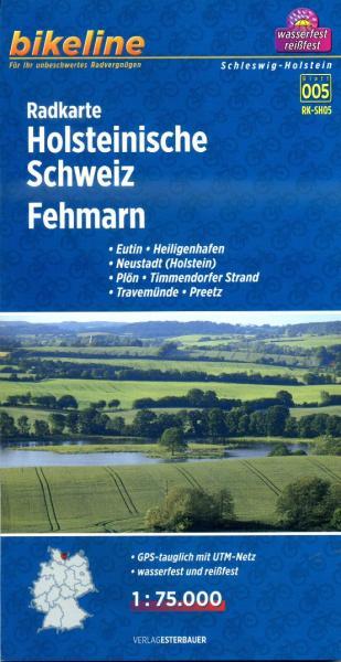 RK-SH05  Holsteinische Schweiz / Fehmarn 1:75.000 9783850003698  Esterbauer Bikeline Radkarten  Fietskaarten Sleeswijk-Holstein