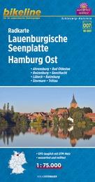 RK-SH07  Lauenburgische Seenplatte Hamburg Ost 1:75.000 9783850003704  Esterbauer Bikeline Radkarten  Fietskaarten Hamburg