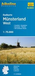 RK-NRW01  Münsterland West 1:75.000 9783850003858  Esterbauer Bikeline Radkarten  Fietskaarten Münsterland, Bentheim