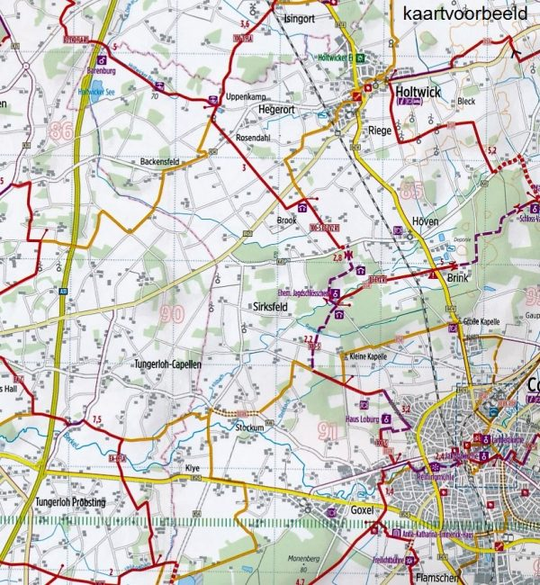 RK-NRW02  Münsterland Ost | fietskaart 1:75.000 9783850003865  Esterbauer Bikeline Radkarten  Fietskaarten Münsterland, Bentheim