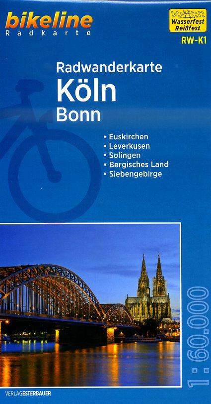RW-K1  Köln - Bonn 9783850004039  Esterbauer Bikeline Radkarten  Fietskaarten Aken, Keulen en Bonn
